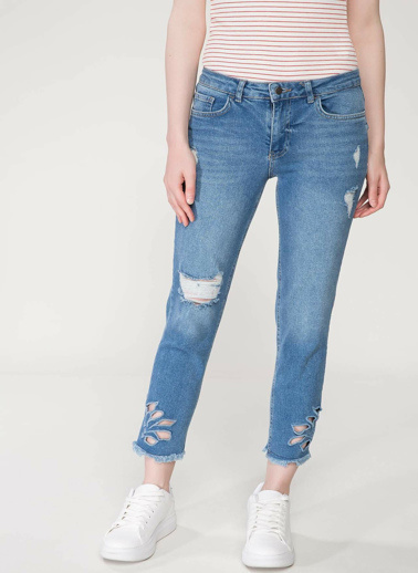 DeFacto Mary Straight Denim Pantolon Mavi
